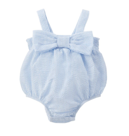 Seersucker Bow Swimsuit - 12-18 Months