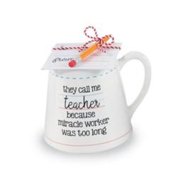 Miracle Teacher Pencil Mug Set