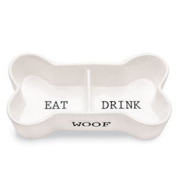Eat Drink Woof Pet Bowl