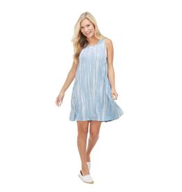 Blue Tie Dye Maya Swing Dress - Large