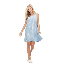 Blue Tie Dye Maya Swing Dress - Small