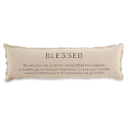 Blessed Canvas Long Pillow