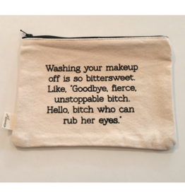 Washing off Makeup - Cosmetic Bag