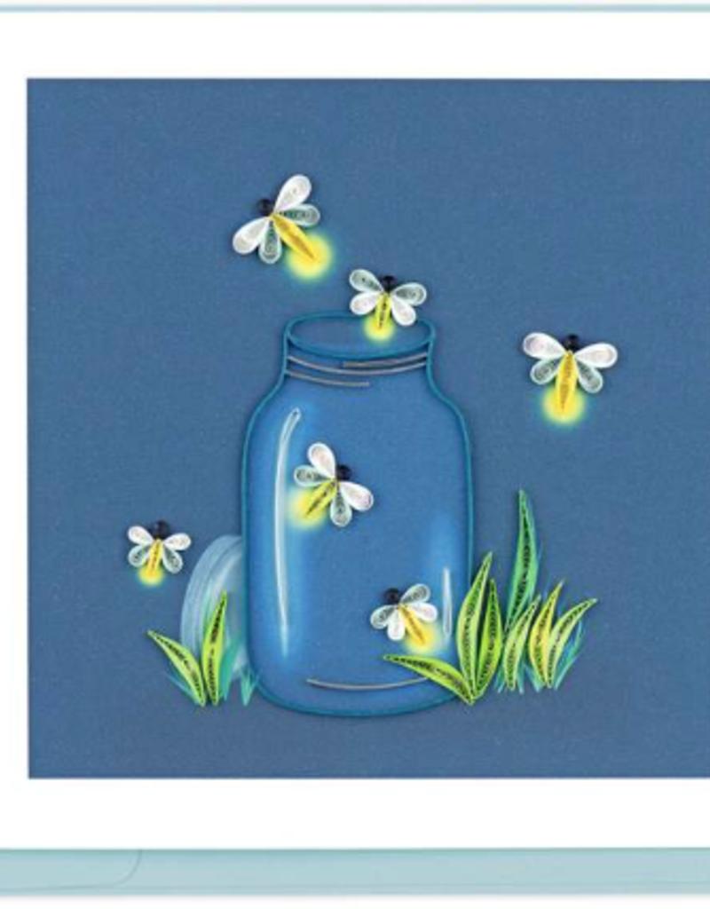 Fireflies Quilling Card