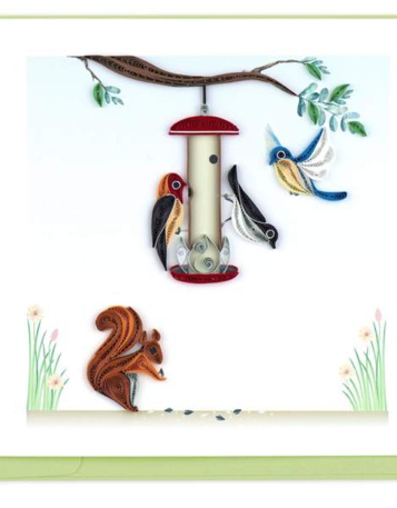 Birdfeeder Quilling Card