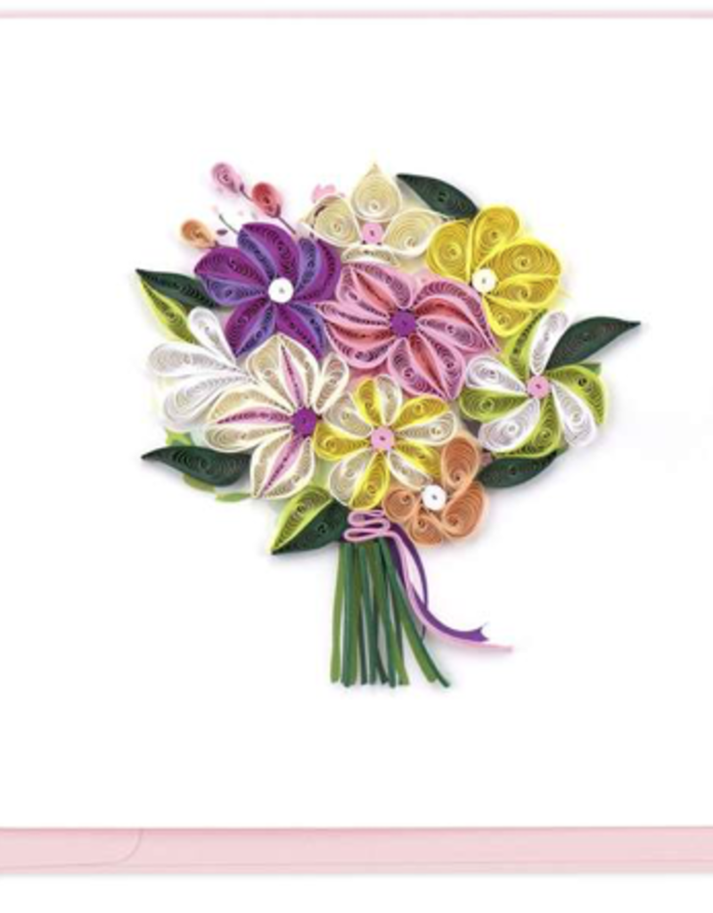 Floral Bouquet Quilling Card