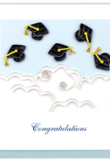 Flying Graduation Caps Quilling Card