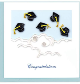 Flying Graduation Caps
