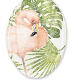 Vietri Into the Jungle Flamingo Oval Platter