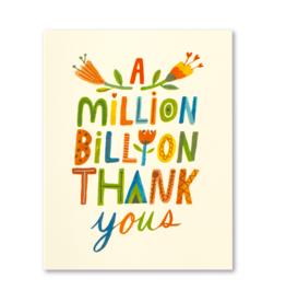 A Million, Billion Thank Yous Thank You Card