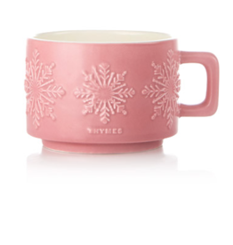 Thymes Hot Cocoa Raspberry Mug Candle - Small