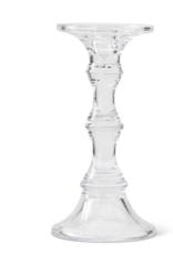 "Glass Pillar Candle Holder - 9.25"""