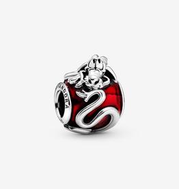Pandora Disney Mulan dragon sterling silver charm with transparent red enamel