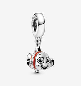 Pandora Disney Nemo sterling silver dangle with orange,  black and white enamel
