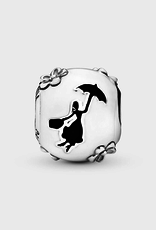 Pandora Disney Mary Poppins charm in sterling silver with white and black enamel