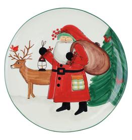 Vietri Old St. Nick 2019 Limited Edition Round Platter