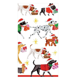 Caspari Christmas Delivery Guest Towel Napkins - 15 Per Package