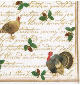 Caspari Founders Thanksgiving Dinner Napkins - 20 Per Package