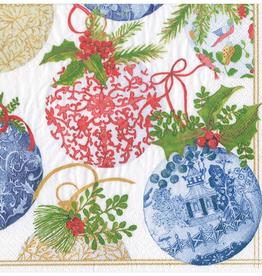 Caspari Porcelain Ornaments Dinner Napkins - 20 Per Package