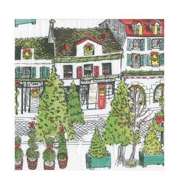 Caspari Vintage Village Christmas Luncheon Napkins - 20 Per Package