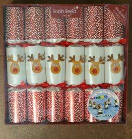 Robin Reed Racing Reindeer Party Crackers - set of 6
