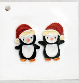Christmas Penguins Quilling Gift Tag
