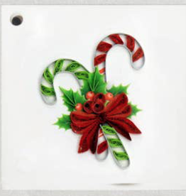 Candy Cane Quilling Gift Tag