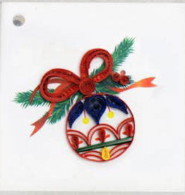 Christmas Ornament Quilling Gift Tag