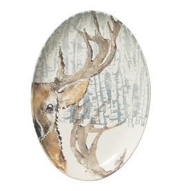Vietri Into The Woods Deer Oval Platter