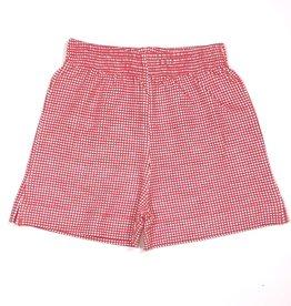 Luigi ISH006P Gingham Knit Short Red