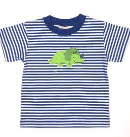 Luigi T018 Royal Stripe Triceratops Shirt