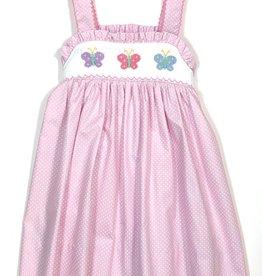 Petit Bebe 125D Butterflies Strap Dress pink dot