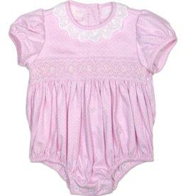 Petit Bebe 401F Pink Dot Knit Bubble