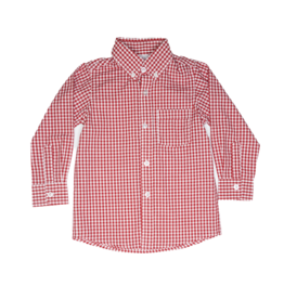 Remember Nguyen Button Down Shirt Red Gingham