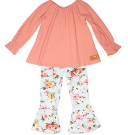 Millie Jay Blue Floral Pant Set