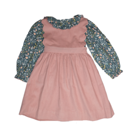 Sage & Lilly Gray  Floral Scallop Dress Set