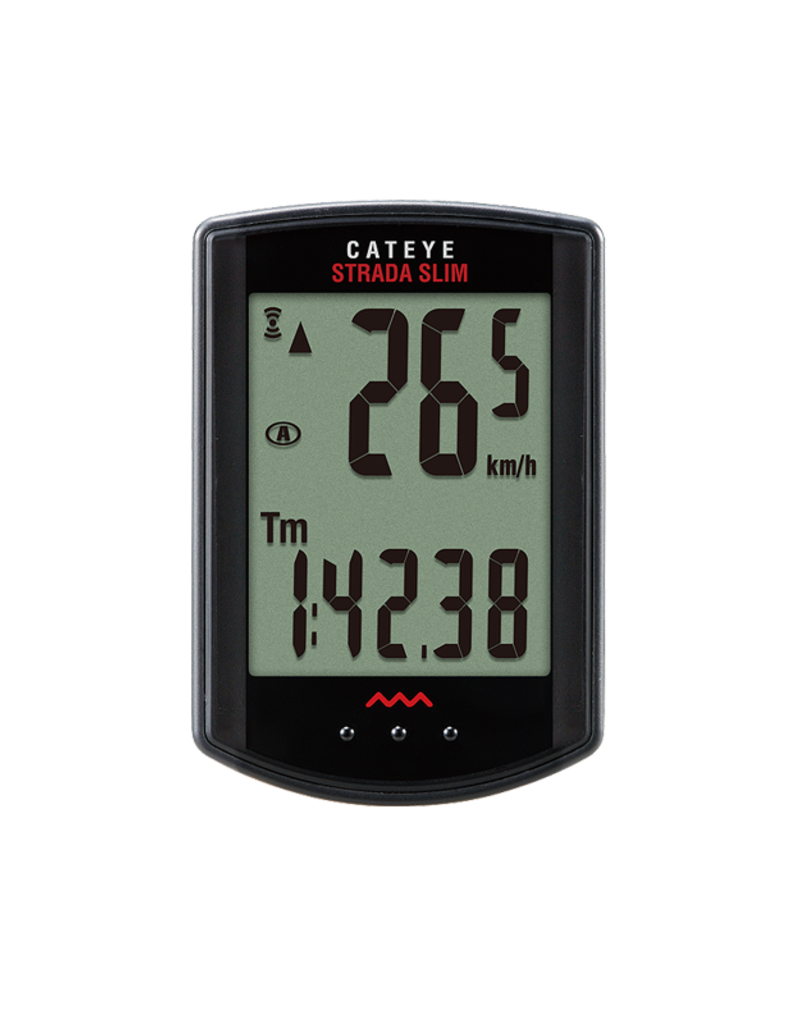Cat Eye, Strada Slim Wireless CC-RD310W, Cycle cmputer, Rad bike sensr, Black
