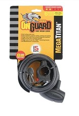 OnGuard OnGuard, Mega Titan, Coil Cable with Key Lock, 8mm x 180cm (8mm x 5.9')