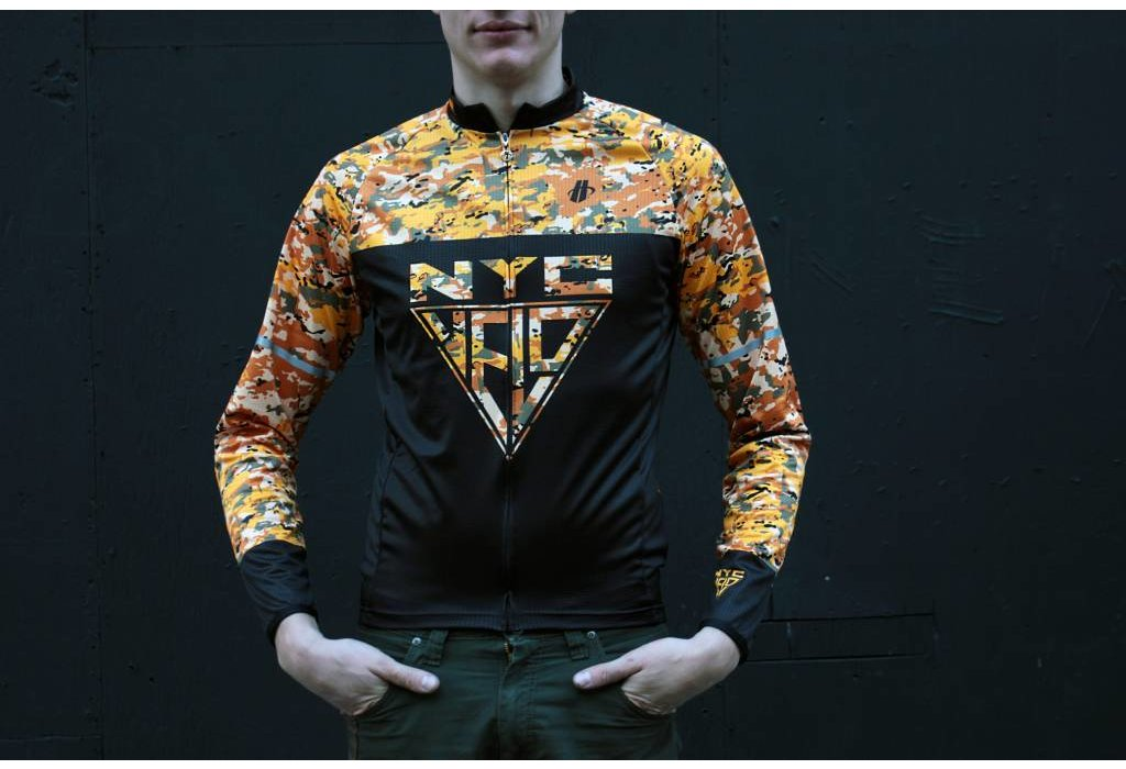 Hincapie Sportswear NYC Velo Orange Adventure Camo LS Jersey