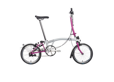 Brompton Brompton H3L Grey/Berry Crush