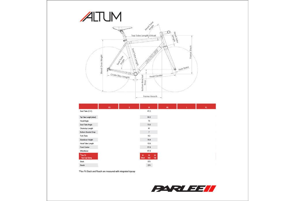 Parlee Parlee Altum Frameset Trident Black - Medium