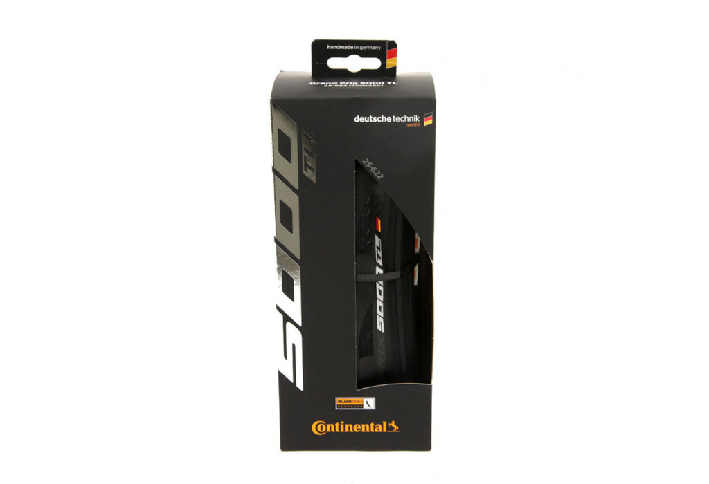 Continental Continental Grand Prix 5000 Tire - 700 x 25, Tubeless, Folding, Black, 180tpi