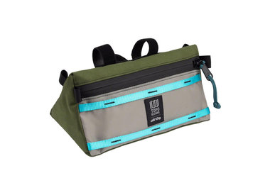 All-City All-City x Topo Bike Bag: Blue/Green/Gray