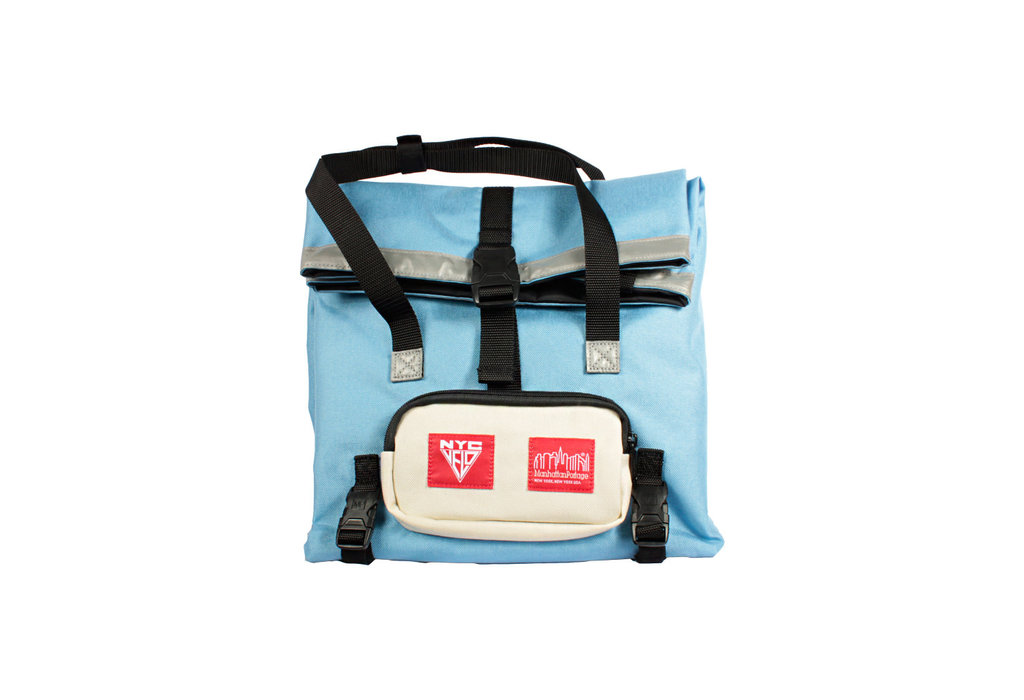 Manhattan Portage Manhattan Portage/NYC Velo Deli Bag Ice Blue/Ivory Cordura