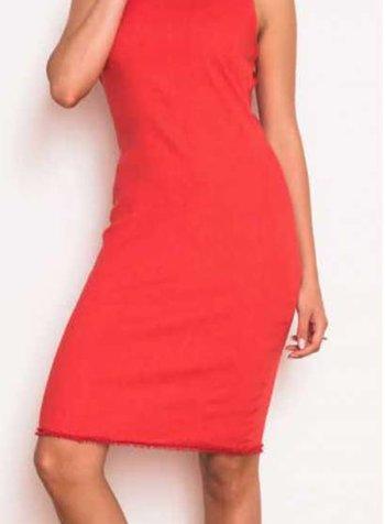 Haris Cotton jersey linen blend stretch dress