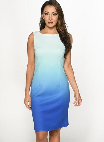 Isle Apparel fitted sleeveless scuba dress