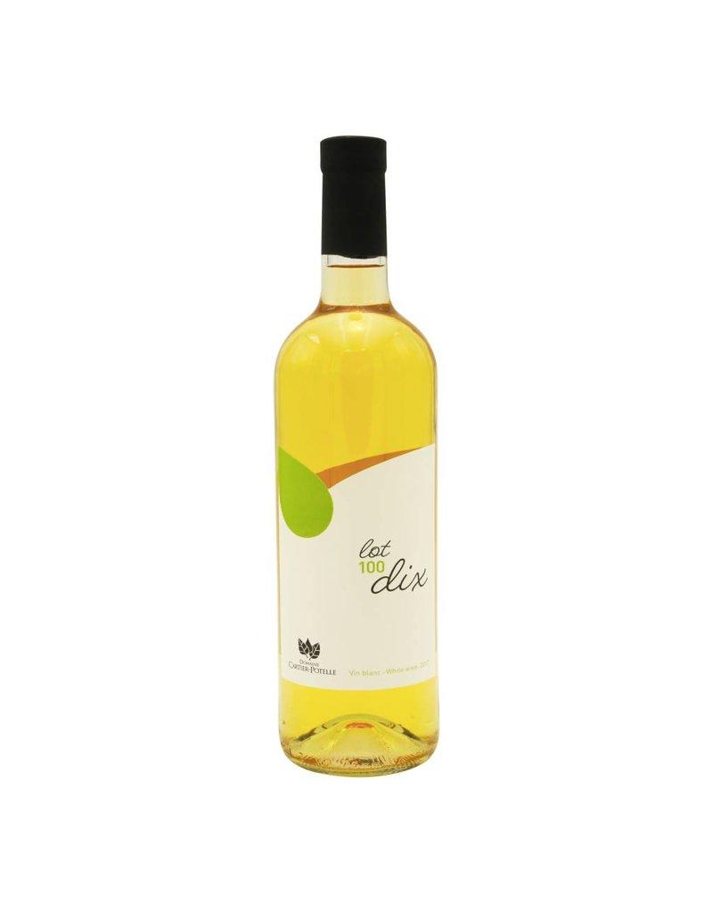 Domaine Cartier-Potelle Lot 100 dix - Vin Blanc du Domaine Cartier-Potelle