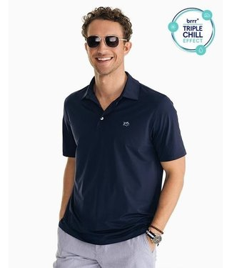 Southern Tide M SS Brrr Driver Perf Polo