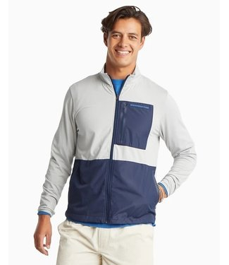 Southern Tide M Sea Foam Perf Full Zip