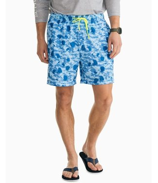Southern Tide M Shark Frenzy Swim Trunk